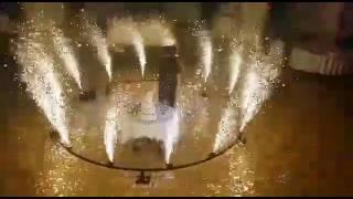 Хоровод из фонтанов - Свадебный танец - Пиротехническое шоу из холодных малодымных фонтанов.