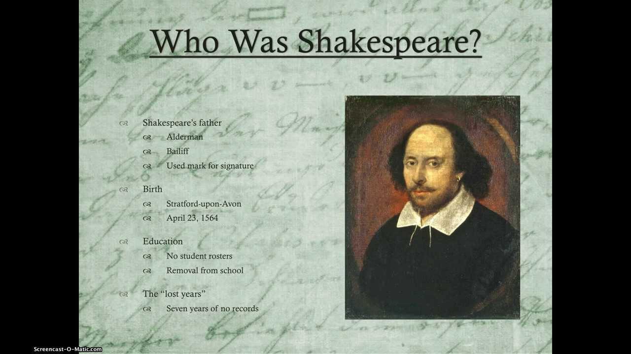 shakespeare authorship controversy