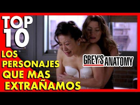 Grey's Anatomy : Los 10 personajes que más extrañamos (Spoilers)  - Top Ten #42 |Popcorn News