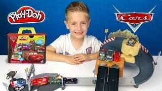 Disney Cars Carbon Racers Race Track & Hotwheels Disney Car Toys Play-Doh Unboxing | KIDCITY
