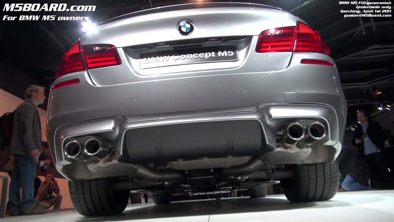 Underside BMW M5 Concept F10 only in detail - YouTube