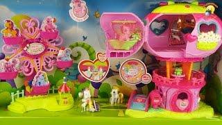 Игровой набор пони с домиком и аттракционом. История / Pony play set, video toys