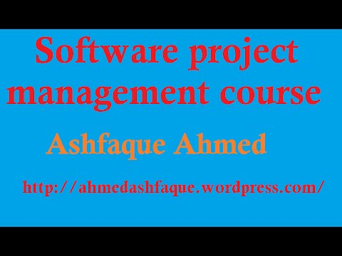 A course in software project management - part #1