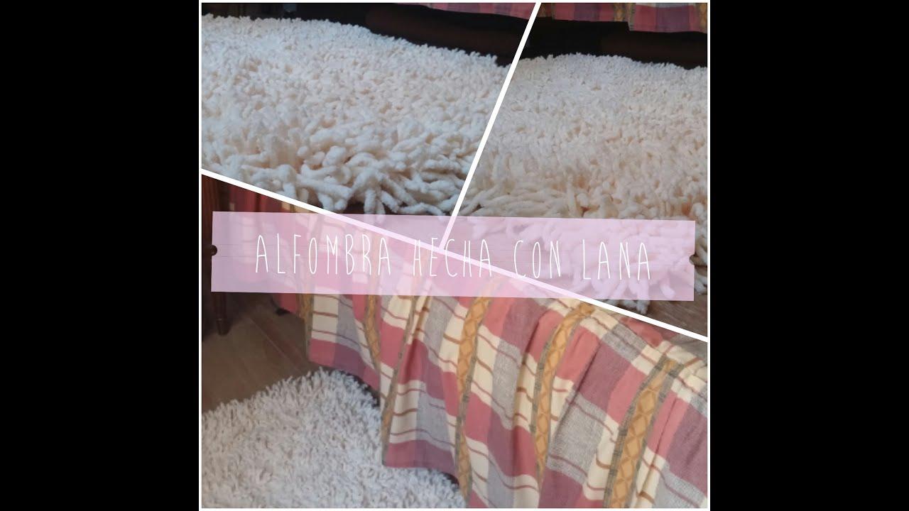 Diy alfombra hecha a mano con lana youtube for Alfombras hechas con lana