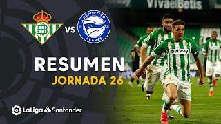 Resumen de Real Betis vs Deportivo Alavés (3-2)