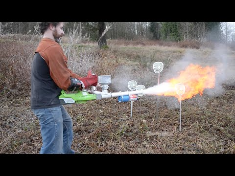 Cornstarch Flamethrower