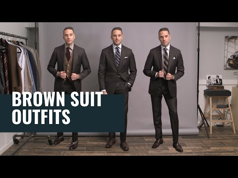 5 Ways To Wear A Brown Suit | How To Dress Well For Men