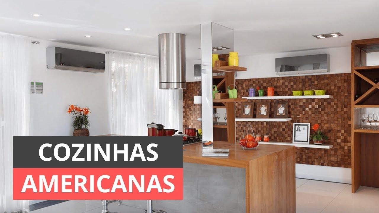 IDEIAS DE COZINHA AMERICANA PEQUENA COMO DECORAR YouTube # Ideias Para Decorar Quitinetes Pequenas