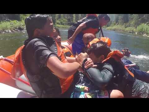 Children have a blast rafting down the Payette River