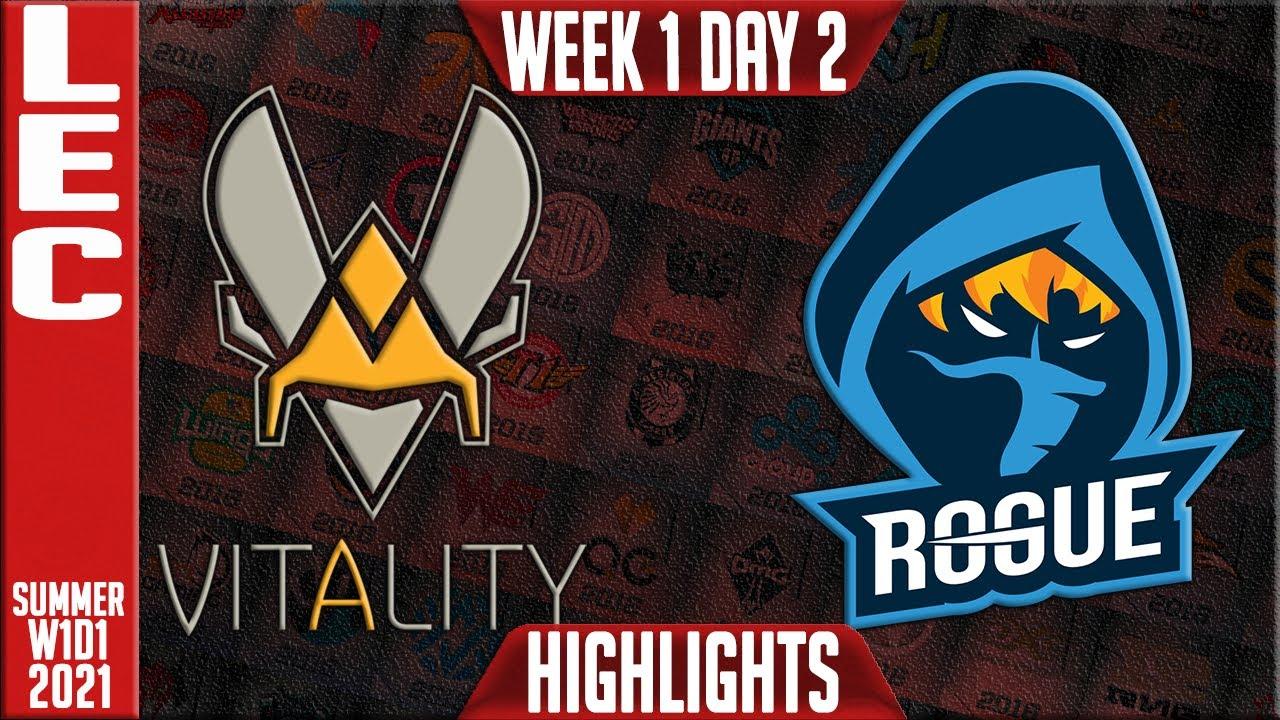 Download VIT vs RGE Highlights   LEC Summer 2021 W1D2   Team Vitality vs Rogue