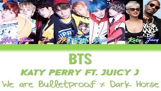 BTS & Katy Perry ft. Juicy J - We Are Bulletproof Pt2. x Dark Horse [Color Coded Han/Rom/Eng Lyrics]