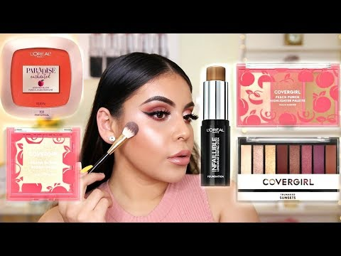 TESTING NEW DRUGSTORE MAKEUP: FIRST IMPRESSIONS 2018 | JuicyJas