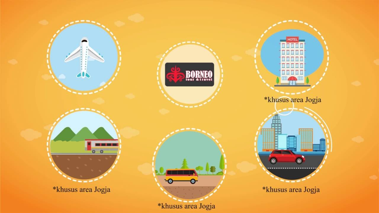 Motion Graphics Tiket Pesawat Borneo Tour Travel Yogyakarta