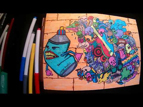 How to Draw Graffiti Character plus Doodle (imagination and Innovation)