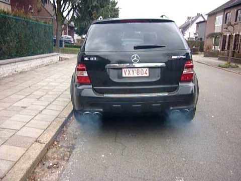 Ml 63 Amg Take Off Crazy Sound From Sport Exhaust Lots Of