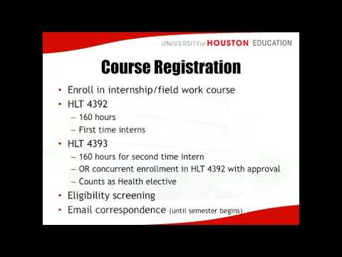 Health Internship Course Information