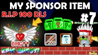 MY NEW SPONSOR(EPIC QUEST) ITEM 7!! (DIAMOND DRAGON) OMG!! | GrowTopia