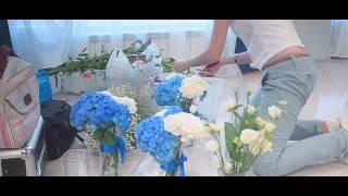 Свадебный декор в синих тонах