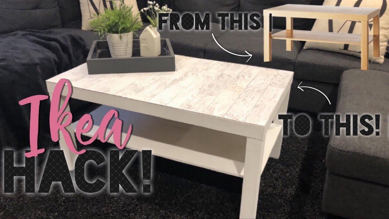 Diy Farmhouse Table Ikea Hacks Ikea Lack Table Hack Youtube