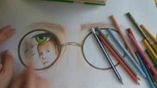 Гарри Поттер цветными карандашами