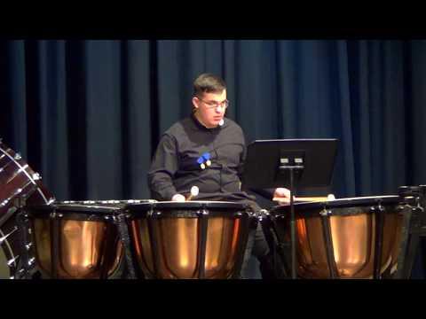Julian timpani solo at ISSMA, February 2018