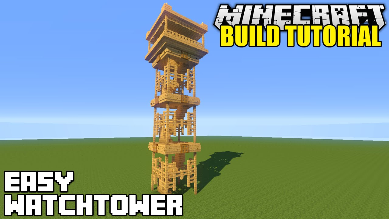 Minecraft How To Build A Watchtower Tutorial Simple Easy Youtube