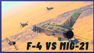 War Thunder SIM F-4 vs MIG-21 4v4!!!