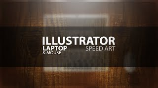 Illustrator Flat Laptop Design Speed Art