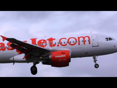 Airbus 319 Easyjet landing at Inverness Airport(EGPE), Scotland