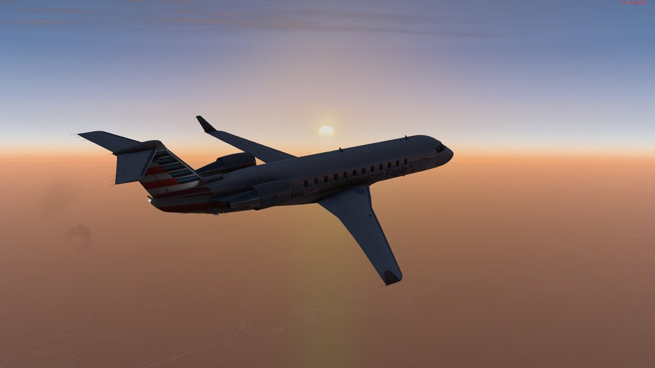X-Plane 11 Ultra Realism #59: American Eagle CRJ-200 Takeoff from  Wilmington Intl