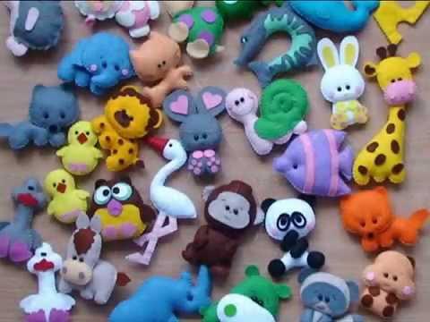 Игрушки из фетра - YouTube