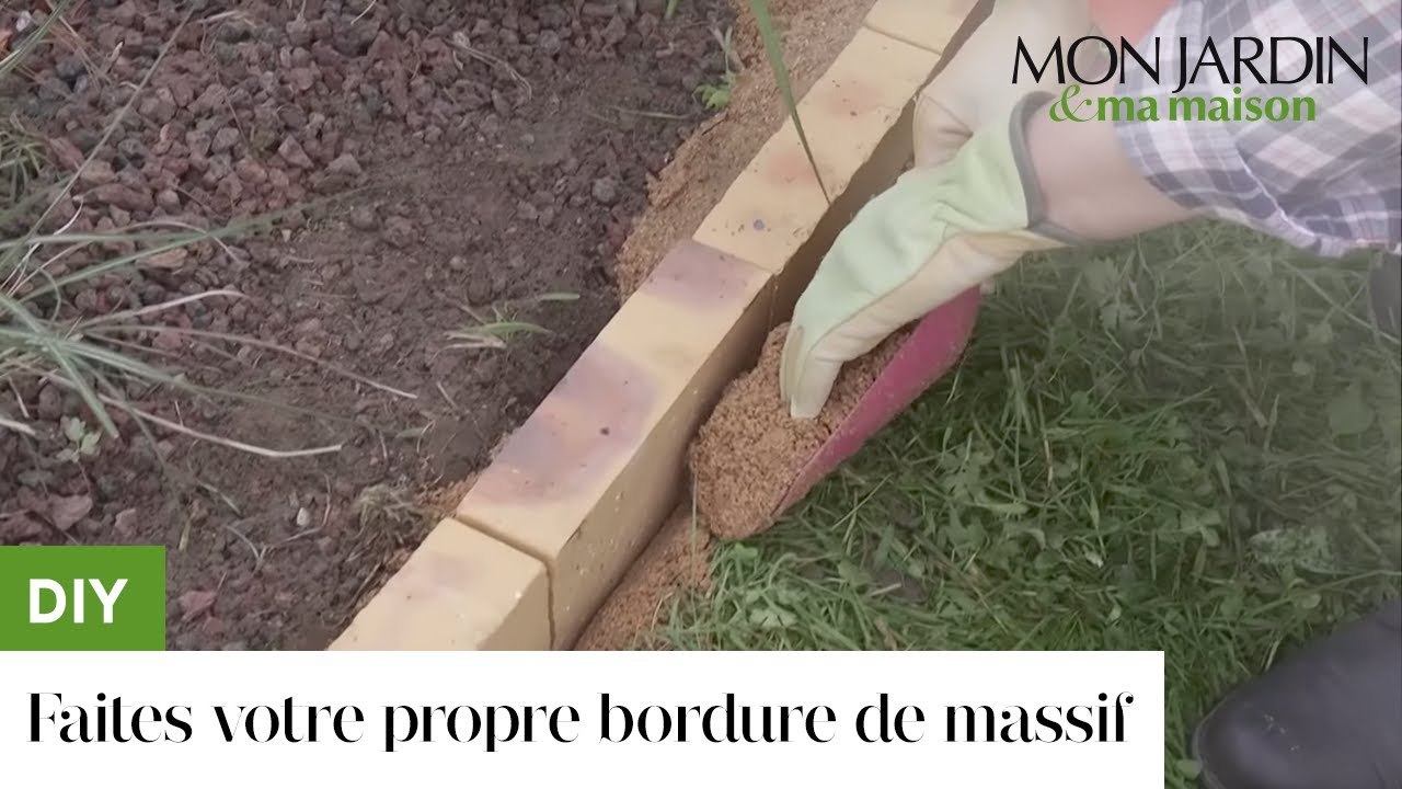 diy faites votre propre bordure de massif youtube. Black Bedroom Furniture Sets. Home Design Ideas