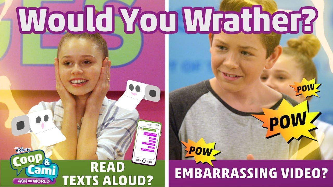 Download Embarrassing Video or Texts Read Aloud? | Coop & Cami Ask the World | Disney Channel