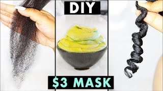 $3 DIY MIRACLE MASK FOR DRY, DAMAGED HAIR!