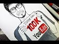 100k Subscribe Sepecial !! Drawing Myself as an anime character