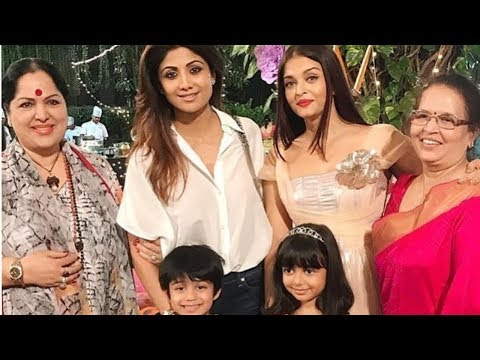 Aishwarya Rai Bachchan and Shilpa Shetty rejoin on Aaradhya Bachchan's grand brday Party today