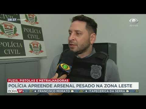Polícia apreende arsenal pesado na Zona Leste de SP