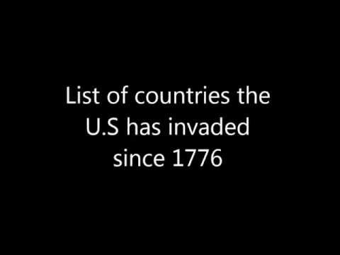 List Of Countries The U S Has Invaded YouTube - Map of countries the us has meddled with