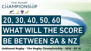 Rugby Championship 2018: 20,30,40 What will the Difference in Score Be NZ v SA