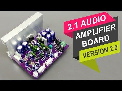 2.1 Audio Amplifier Board | Version 2.0 | with TDA7377 IC DIY Hindi ELECTRO INDIA