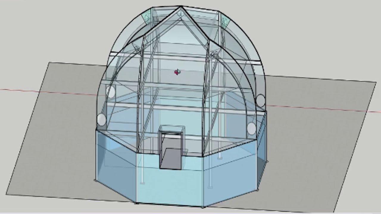 PyraPOD8 Greenhouse Sketchup Design for Backyard DIY ... on Sketchup Backyard id=71374