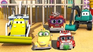 Строительная Бригада: Самосвал, Кран и Экскаватор строят Детские автомобили в Автомобильном Городе