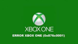 ERROR XBOX ONE (0x876c0001)