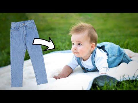 DIY // Детский комбинезон из джинсов