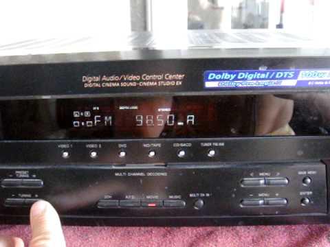 sony am fm receiver str de595 onkyo speaker how sound working rh youtube com Sony STR- DG520 5.1 Sony STR- DG520 5.1