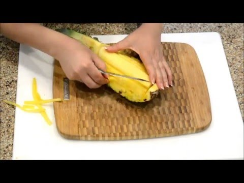 Pineapple Cutting Technique - Fruit Cutting Tutorial