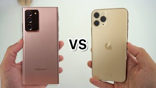 Samsung Galaxy Note 20 Ultra vs iPhone 11 Pro, ¿Cuál es mejor?