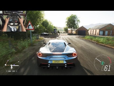 Ferrari 488 GTB - Forza Horizon 4   Logitech g29 gameplay thumbnail