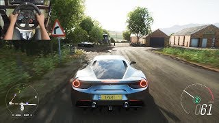 Ferrari 488 GTB - Forza Horizon 4 | Logitech g29 gameplay