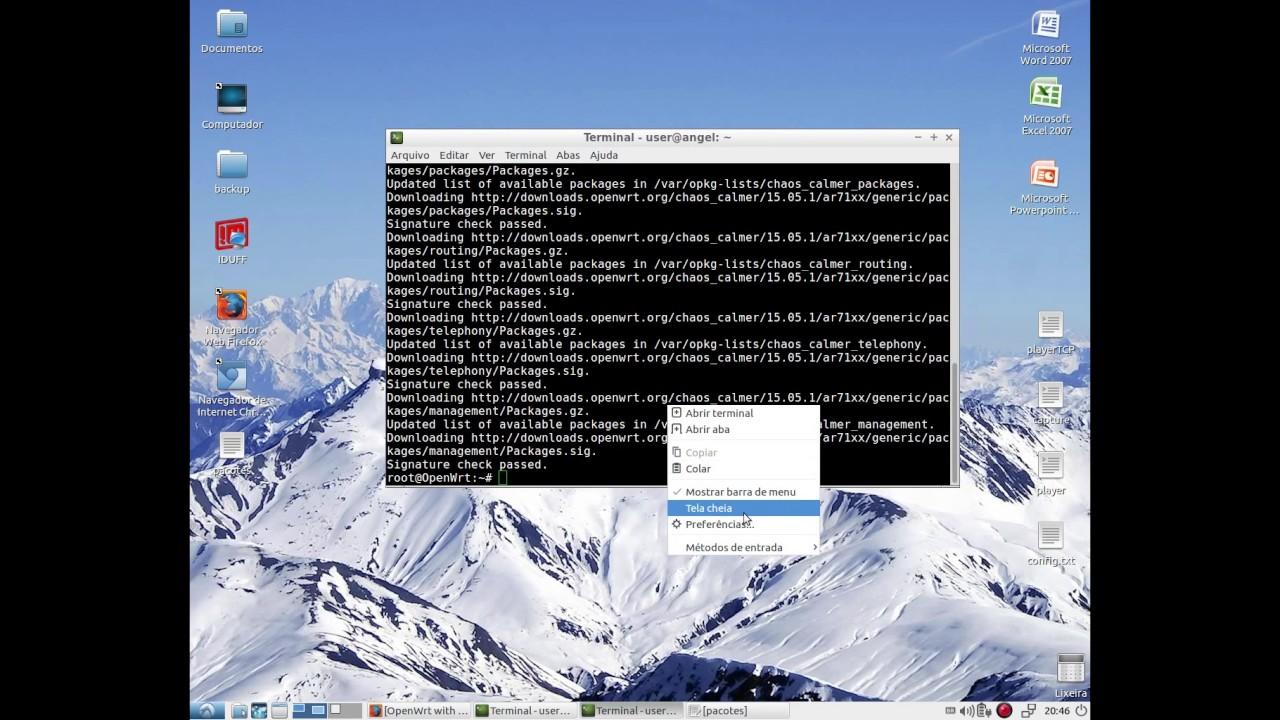 Instalação de Pacotes no OpenWRT: iperf e montagem USB #PARTE 1